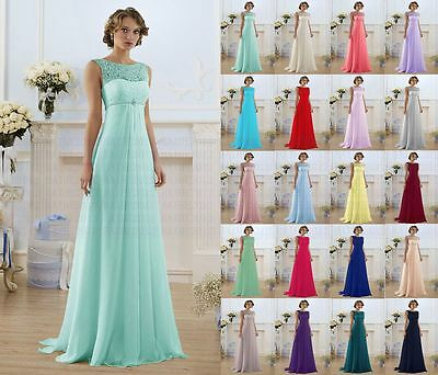 New Lace Wedding Dress Formal Long Evening Ball Gown Party Prom Bridesmaid Dress