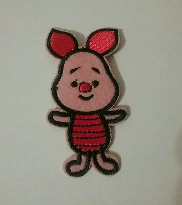 Cutie Piglet Pig Disney Embroidered Iron On / Sew On Patch Applique. Best Price