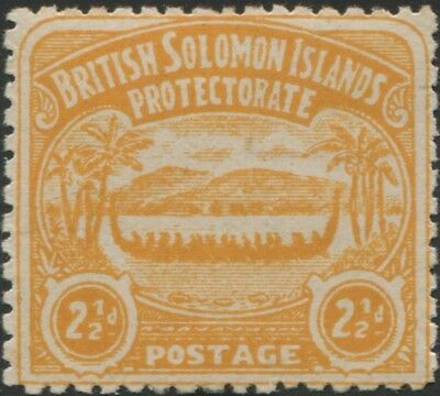 Solomon Islands 1907 SG4 2½d orange-yellow Canoe MNH