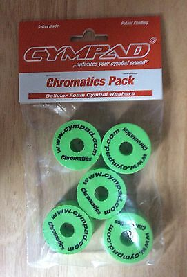 Cympad Chromatic Replacement Cymbal Stand Felts In Green Pack Of 5