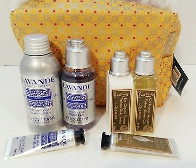 L'Occitane Gift Set Lavande and Verbena Products in Zip Case with January coupon