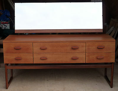 c1960s Vintage Teak G Plan Quadrille Dressing Table Sideboard Chest of Drawers