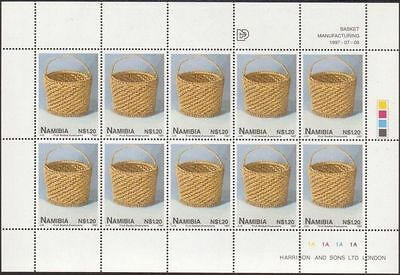 Namibia 1997 SG735 $1.20 Fruit Basket sheetlet MNH