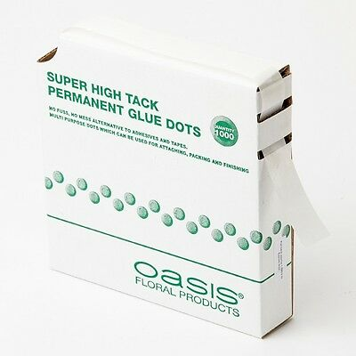 Oasis Super High Tack Glue Dots Pack Of1000 Floristry Weddings Sku6125