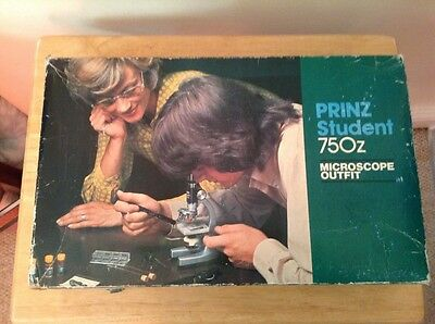 Vintage Boxed Prinz Student 750z Microscope Outfit