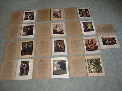 Mary E. Owen Folders/Prints Lot of 13 Instructor Picture Study Series
