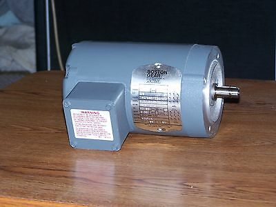 Boston Gear Electric Motor 3-Phase 1/6 H.P. 230/460 Volts, 1725 R.P.M.