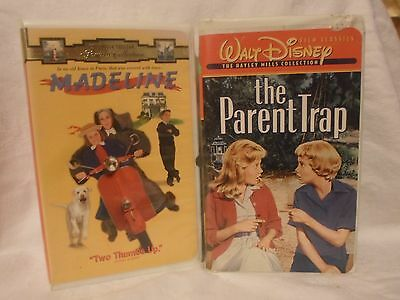 2 Children's VHS Tapes; Madeline & The Parent Trap