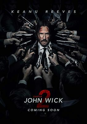 JOHN WICK 2 11x17 mini movie poster collectible KEEANU REEVES