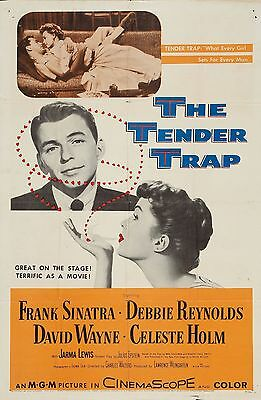 THE TENDER TRAP Debbie Reynolds 11x17 mini movie poster collectible