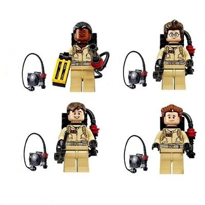 4 Pcs Ghostbusters Mini Figures NEW UK Seller Fits Lego Ghost Busters