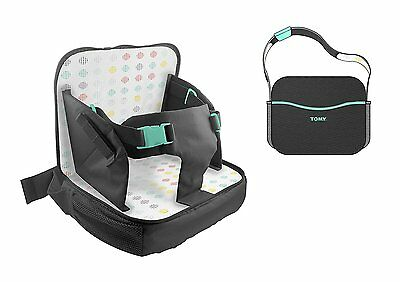 Tomy T1118 Baby Travel Booster Seat Feeding Changing Nappy Bag Carry Case Black