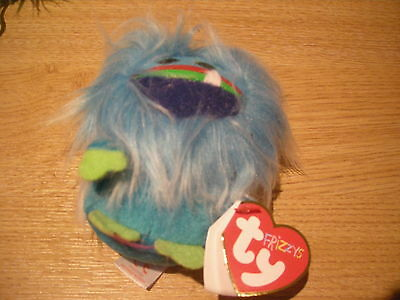 Ty Beanie Babies - Frizzy Key Clip - Fang 37331 - Dob 19 September 2014 - New