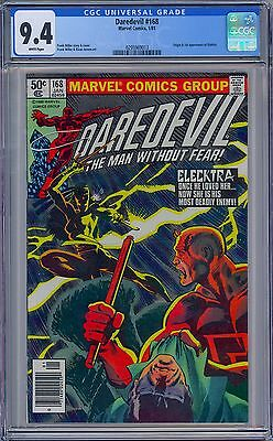 DAREDEVIL #168 - CGC 9.4 - White Pages NM - First ELEKTRA