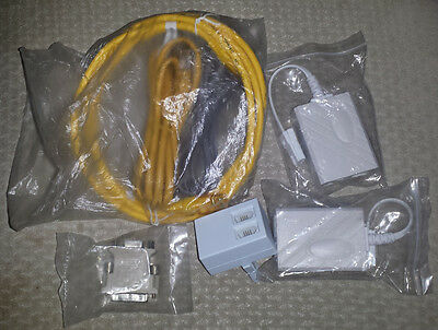 Job lot of home phone and computer accessories/adapters ethernet cables
