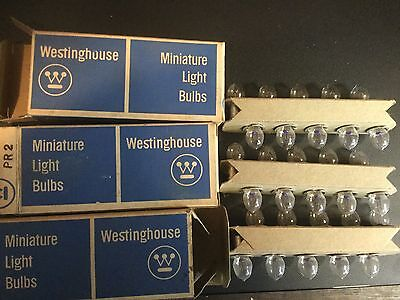 Lot Of 3 Vintage Westinghouse Miniature Bulbs Boxes Pr2 (30 Bulbs Total)