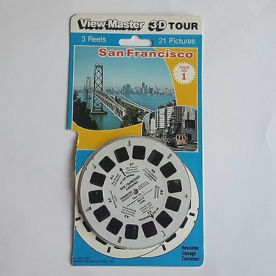 Viewmaster three reel carded packet set 3d San Francisco Tour No.1