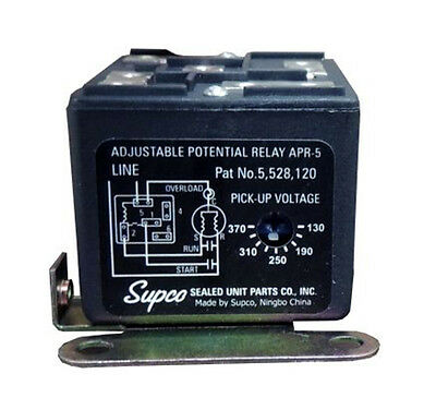 Supco #APR5 Universal Adjustable Potential Relay Safety Time
