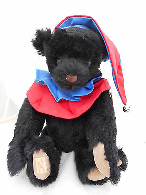 "Deans Rare Mohair Black Bear "" Jester Bear "" limited edition 4/100"