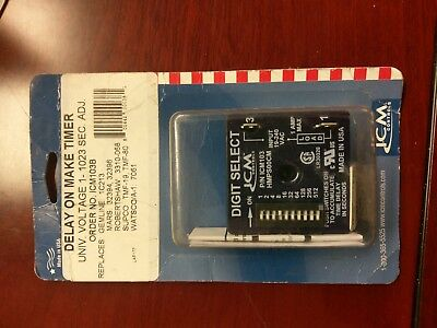 ICM103 ICM103B Delay On Make Timer Relay 18-240 VAC 1-1023 Seconds