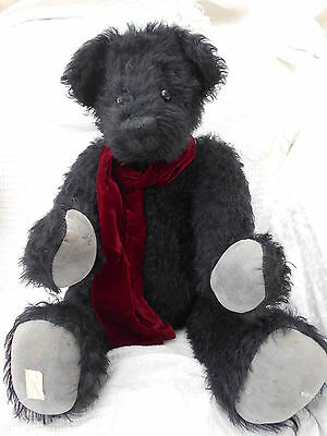 "Very Large Deans Rare Black 24 inch mohair Bear "" Gregory "" ltd 20 of 150"