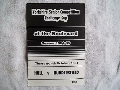 Hull FC v Huddersfield 4.10.84 Rugby League programme