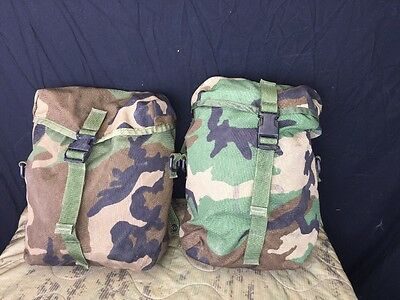 US Military MOLLE Sustainment Pouch - Woodland Camo - Dump Pouch EUC - LOT OF 2