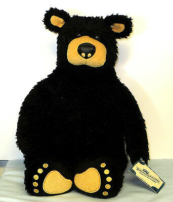 "Vintage 1996 BEARFOOTS 14"" BlLACK BEAR By Jeff Fleming Big Sky Carvers"