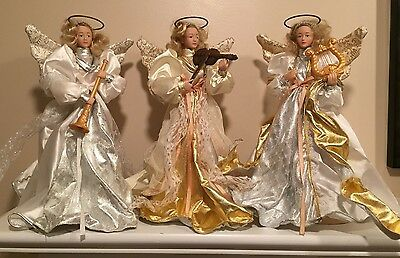 Vintage Holiday Creations Musical Angel Trio Christmas Decoration