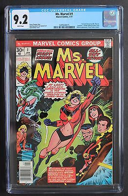 MS. MARVEL #1 Carol Danvers Captain Marvel MOVIE 1977 Red Hot Key CGC NM- 9.2