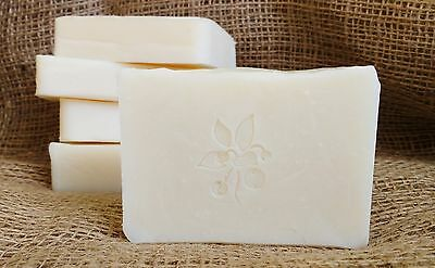 Natural artisan soap with organic shea butter. Sensitive skin care, unscented.