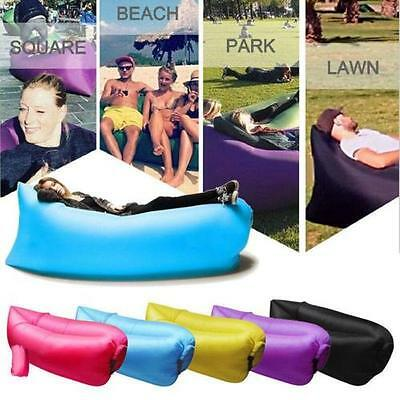 New Fast Inflatable Air Bag Sofa Lounge Camping Bed Beach Hangout Lazy Bag