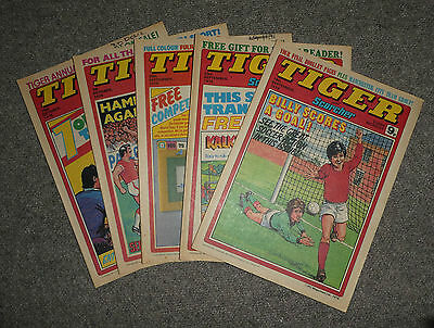TIGER & SCORCHER COMICS x 5  -1978  - (G3643E)