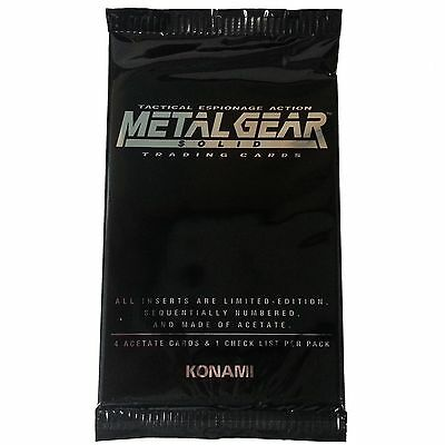 Metal Gear Solid Trading Cards Acetate limited edition NEW Unopened Booster Pack