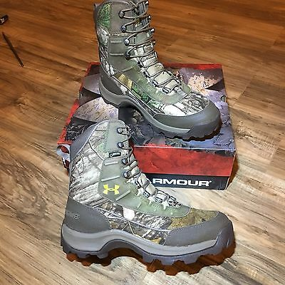 Mens Under Armour UA Brow Tine Hunting Hiking Boots Realtree Size 9 Wide 1240078
