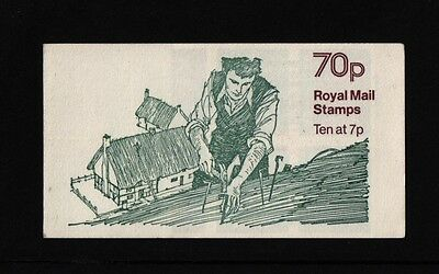 THATCHING 70p LEFT SELVEDGE BOOKLET CYLINDER  FD3a  LM CYLINDER