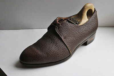 Vintage BALLY Shoes 1940s Classic Brogue UK5.5 Leather Court Lace Up Derby CC41