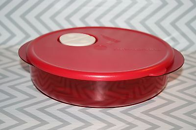 Tupperware Rock N Serve Round Microwave Container 800 ml Red New!!!