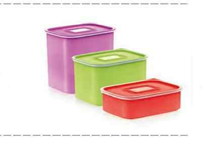 TUPPERWARE Baseline Canisters SET  2.1L + 1.3L + 500ml The best offer