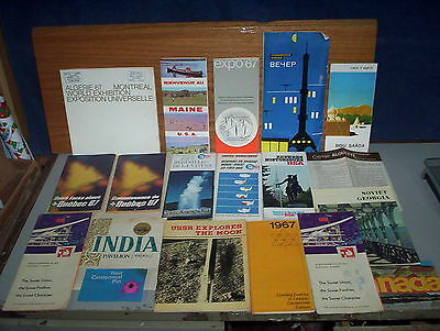 Lot of 19 Items 1967 Expo 67 in Montreal Canada Brochures & Souvenir Booklets
