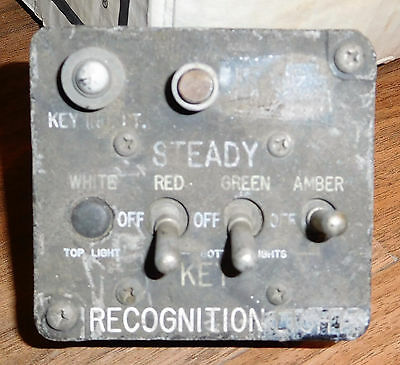 WWII Aircraft Standair RECOGNITION LIGHTS CONTROL ASSEMBLY Fighter Bomber USAAF