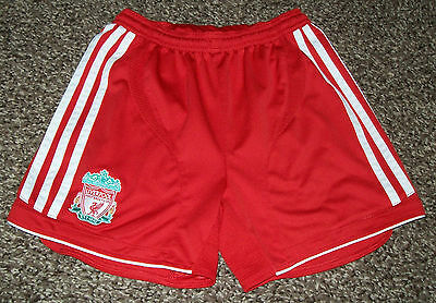 """*** Liverpool Football Shorts - Adidas Clima Cool - Home Red - Size 24"""" ***"""