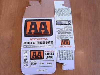 vintage winchester double A target loads shotgun shell boxes only AA