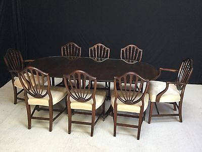 Grand Regency Style Mahogany Dining Table Set Professionally French Polished