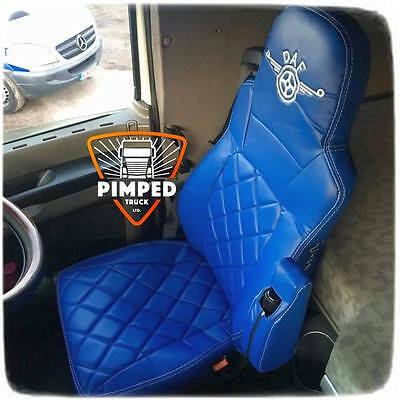 SEAT COVERS DAF 105 TILL 2012YEAR / DAF CF EURO5 ECO LEATHER Blue&Blue