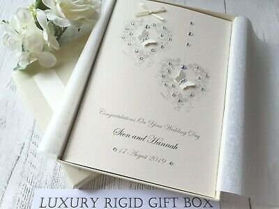 Wedding Day Congratulations Card Handmade Personalised son daughter in law box