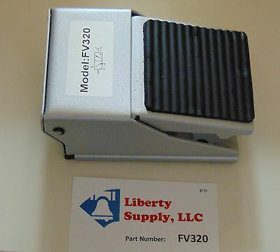 """Brand New Pneumatic 3 way Foot Pedal Valve with 1/4"""" NPT Working Ports"""