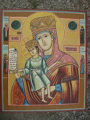 """Antique XIXC.RARE RUSSIAN ORTHODOX ICON """"It is truly meet"""" (""""Merciful"""") 20"""""""