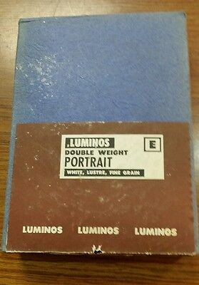 Vintage LUMINOS Double  Weight Portrait Paper 5 x 7 #2  100 sheets West Germany