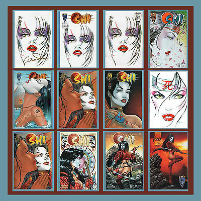 SHI - 12 Issue Lot *TWo SiGNeD by BiLLY TuCCi* (VF-NM) Crusade Comics - William